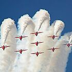 Red White And Blue !! Total Perfection !! The Red Arrows Farnborough 2014 !!  by Colin J Williams Photography
