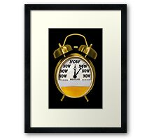 ☞ ITS NOW -TIME FOR A BEER - WITH- BEER OCLOCK CARD AND OR PICTURE ☝ ☞ Framed Print