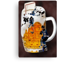 █ ♥ █ SPIRIT OF HOCKEY-BEER- HOCKEY PLAYERS CARD/PICTURE █ ♥ █  Canvas Print