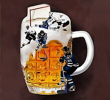 █ ♥ █ THE GOOD OLD HOCKEY GAME - BEER- HOCKEY PLAYERS FUN DECORATIVE PILLOW & TOTE BAG CHEERS HE SCORES █ ♥ █ by ╰⊰✿ℒᵒᶹᵉ Bonita✿⊱╮ Lalonde✿⊱╮