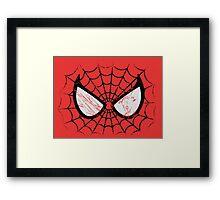 Spider-Man face Framed Print