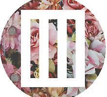paramore bars logo over floral by eldercunningham