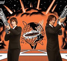 Gale Anne Hurd and Norman Reedus in Men in Black (2) (SDCC 2014) by shoshgoodman