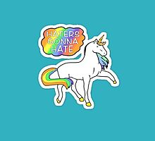 Haters Gonna Hate Unicorn Phone Case by Itsmetiana