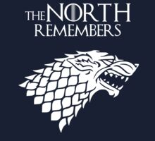 The North Remembers / Game of Thrones / white logo by mlmatov