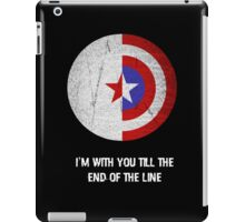 Cap and Bucky White Text iPad Case/Skin