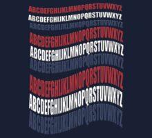 RED WHITE & BLUE alphabet- t2 T-Shirt