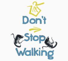 Don't stop walking buen camino by cheeckymonkey
