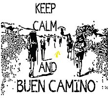 Keep calm and buen camino Photographic Print