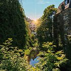 Water of Leith with Dean Village, Edinburgh by Miles Gray