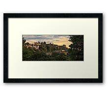 Beautiful Sunset over Edinburgh Castle Framed Print