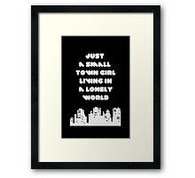 Small Town Girl Framed Print