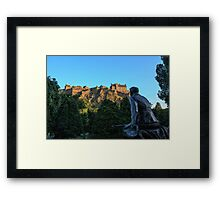 Scots American War Memorial Overlooking Edinburgh Castle Framed Print