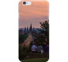 Nightfall over Edinburgh from Calton Hill iPhone Case/Skin