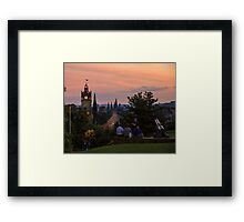 Nightfall over Edinburgh from Calton Hill Framed Print