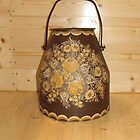 A German Floral Bucket - pillow & tote by Dennis Melling