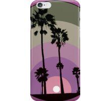 Palm Sunset - Purple iPhone Case/Skin
