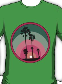 Palm Sunset - Pink T-Shirt