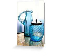 Double Blues Greeting Card