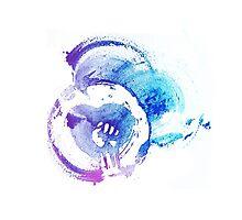 Watercolour Heartfist by ultimatejeb
