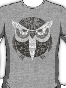 Wise Old Owl Says T-Shirt