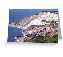 Aquinnah Clay Cliffs Greeting Card