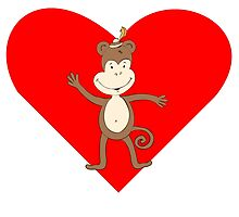 Waving Monkey Heart by kwg2200