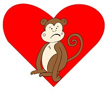 Sad Monkey Heart by kwg2200