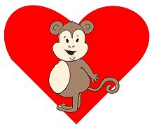 Fat Girl Monkey Heart by kwg2200