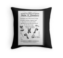 Mdm A Slumbers Catalogue of 1888 Throw Pillow