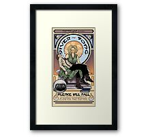 Silence Will Fall: The River's Pietà Framed Print