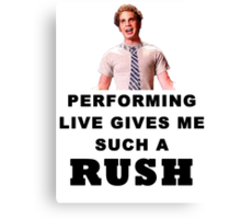 Benji - Performing Live Quote Canvas Print