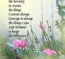 Serenity Prayer Poppies by the Shed by serenitygifts