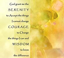Serenity Prayer Yellow Green Orchids Panels by serenitygifts