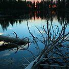 Sundown - Reflection Lake - Lassen Volcanic National Park by Harry Snowden