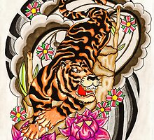 Japanese tiger by Thoricartist