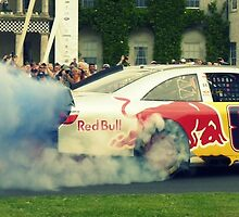 Toyota Camry NASCAR Burnout by Tom Gregory