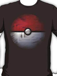 Brushed Pokeball - Kanto Map T-Shirt