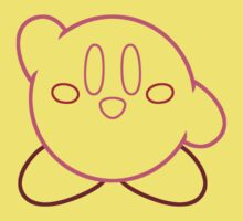Minimalist Kirby With Face Kids Clothes
