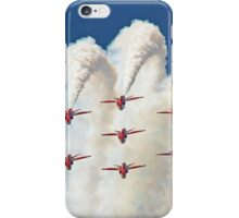 Red White And Blue !! Total Perfection !! The Red Arrows Farnborough 2014 !!  iPhone Case/Skin