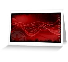Sith Star Wars Red Space Greeting Card