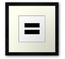 Black Gay Pride Framed Print