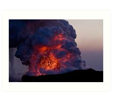 Kilauea Volcano at Kalapana 6 Art Print