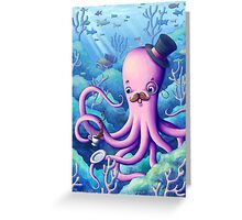 A Fancy Octopus Dilemma Greeting Card