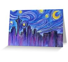 Starry Night Over Seattle Greeting Card