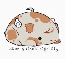When Guinea Pigs Fly (Text) Kids Clothes
