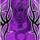 Tribal Dragon Purple by Tim Miklos