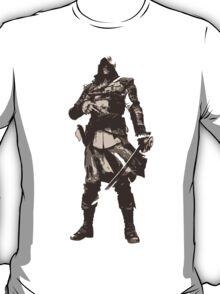Minimalist Edward Kenway from Assasins Creed 4: Black Flag T-Shirt