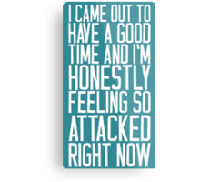 Feeling So Attacked Right Now (white) Metal Print
