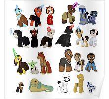 Star Wars Ponies Poster